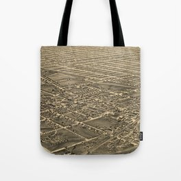 Vintage Pictorial Map of Greensboro NC (1891) Tote Bag