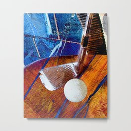 Golf art print work 4 Metal Print