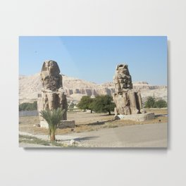 The Clossi of memnon at Luxor, Egypt, 2 Metal Print