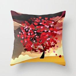 Herzbaum Throw Pillow