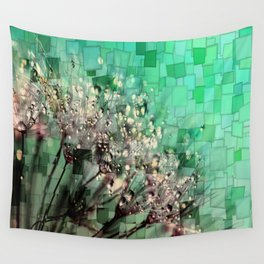 Fresh Dandelions Mosaic Wall Tapestry