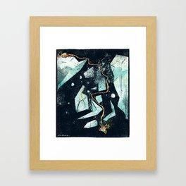 Climbing the Crevasse Framed Art Print