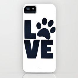 Love Pets Paw Cat Dog Cute iPhone Case