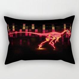 Bright Colored Neon Dinosaur Rectangular Pillow