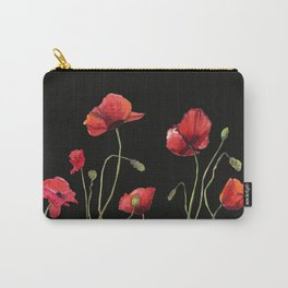 Poppies at Midnight Carry-All Pouch