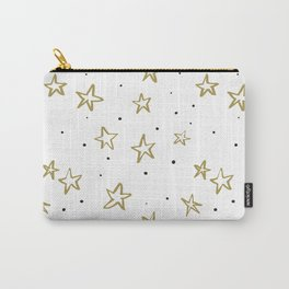 Gold stars and dots Carry-All Pouch