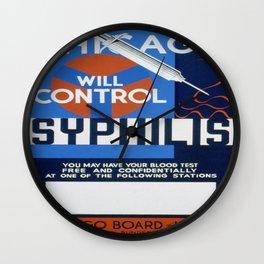 Vintage poster - Syphilis Wall Clock