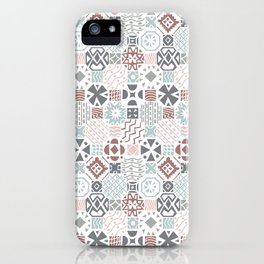 Tiles in neutral colors iPhone Case