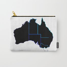 Australia States In Silhouette Carry-All Pouch