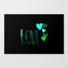 Love 5 Hearts - Pink Canvas Print