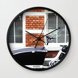 Amsterdam streets - Freight bicycles Wall Clock
