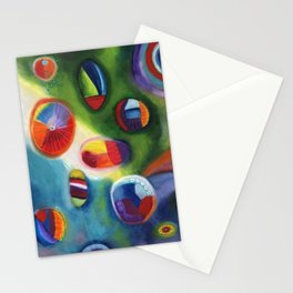 floating circles Stationery Cards