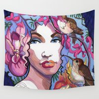 orchid Wall Tapestries featuring Orchid by Thea Maia