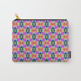 Flower in Neon tiled Carry-All Pouch