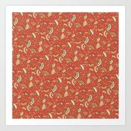 Jardín rojo Art Print