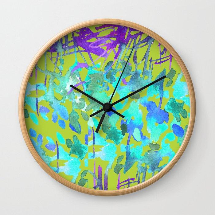 Floral Watercolor Craze Wall Clock