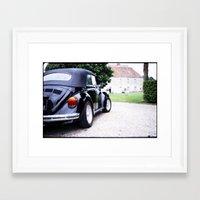 volkswagon Framed Art Prints featuring Vintage Volkswagon Beetle by istillshootfilm