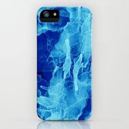 Microcosmos Azul iPhone Case