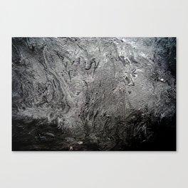 Black Lava II Canvas Print