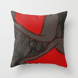 Coronary Contemporary 2 Throw Pillow