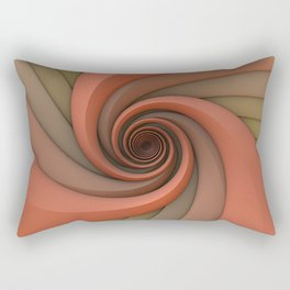 Spiral in Earth Tones Rectangular Pillow