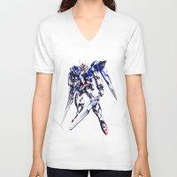 gundam V-neck T-shirts featuring Gundam Wing by bimorecreative