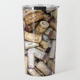 Fine Wine Corks Square Travel Mug