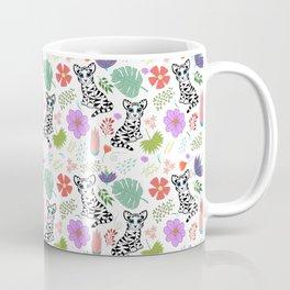 Tiger and Jungle Florals Coffee Mug