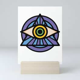 Illuminati Symbol Triangle Masonic Conspiracy Gift Mini Art Print