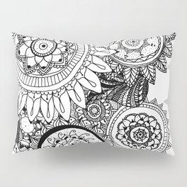 Multiple Freehand Mandalas Pillow Sham