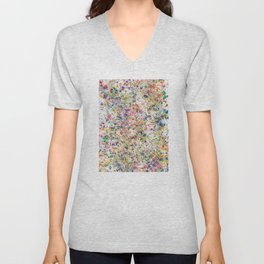 Abstract Artwork Colourful #7 Unisex V-Neck