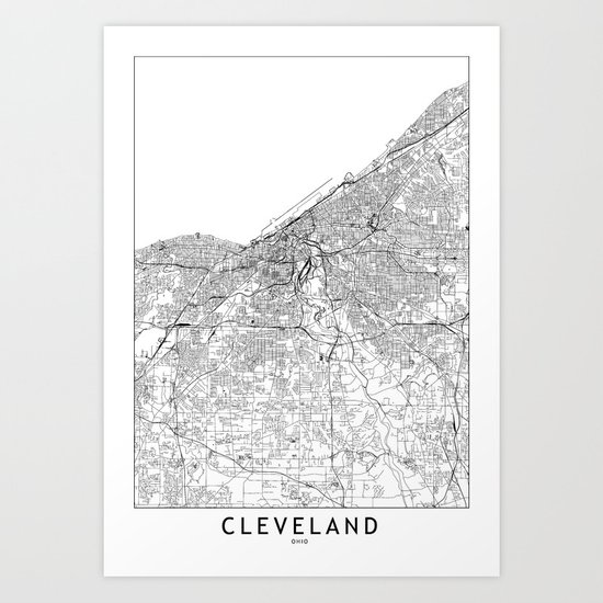 Cleveland White Map by multiplicity