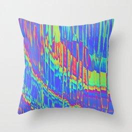 Iridescent Cosmic Rays Pop Art Throw Pillow