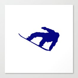 Snowboard Jumping Silhouette Canvas Print