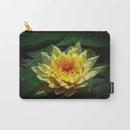 Yellow water lily Carry-All Pouch
