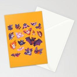 Bat - yellow Stationery Cards