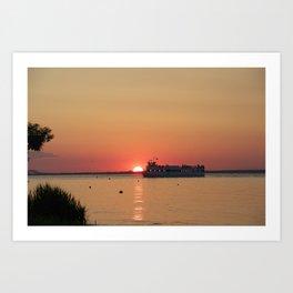 Ferry Crossing Art Print
