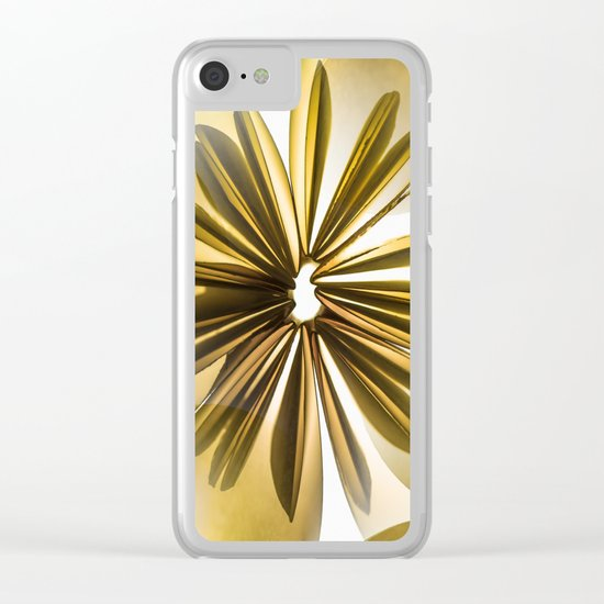 Retro Shiny Flowers Clear iPhone Case