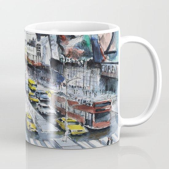 Time square - New York City - Illustration watercolor painting Mug