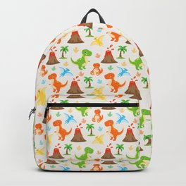 Cute Dinosaurs Nursery Illustration – Jurassic print with T-Rex and Pterodactyl Backpack