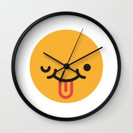 Emojis: Crazy face Wall Clock