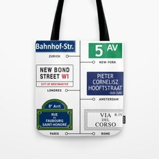 Shopping Chic Vintage Poster Decoration Tote Bag