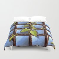 technology Duvet Covers featuring Technology Vs Nature  by The Art Experiment co