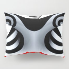 Black White and Red Geometric Abstract Pillow Sham