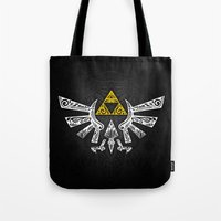 hyrule Tote Bags featuring Zelda Hyrule by Art & Be