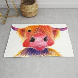Scottish Highland Cow ' HeRbiE ' by Shirley MacArthur Rug