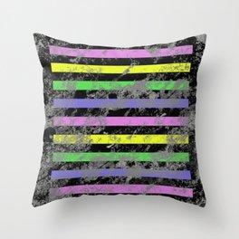 Linear Breakthrough - Abstract, geometric, textured artwork Throw Pillow