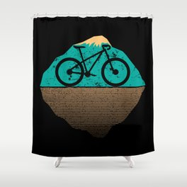 Cycling for the World | Vintage Bicycle Shower Curtain