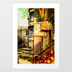The Victorians' life in the Mission district - San Francisco Art Print