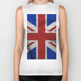 Great Britain flag Biker Tank